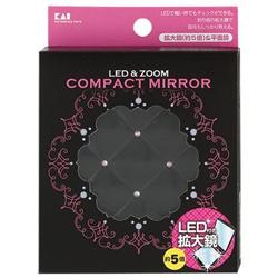 貝印 LED付約5倍拡大鏡 S 黒 000KQ0332 72g