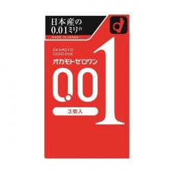 【スポット】オカモトコンドームズS ゼロワン 0.01 3個入り